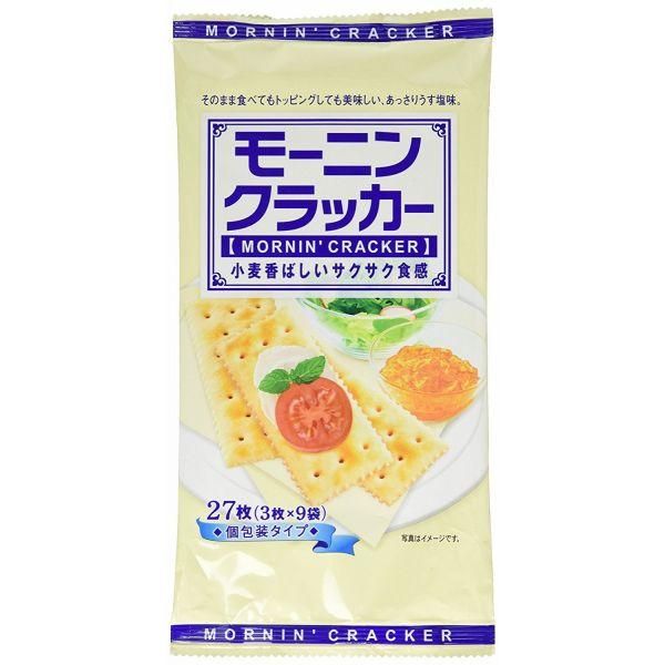 小麦香ばしいサクサク食感 NSIN セール特価 モーニンクラッカー 27枚×12袋 年末年始大決算