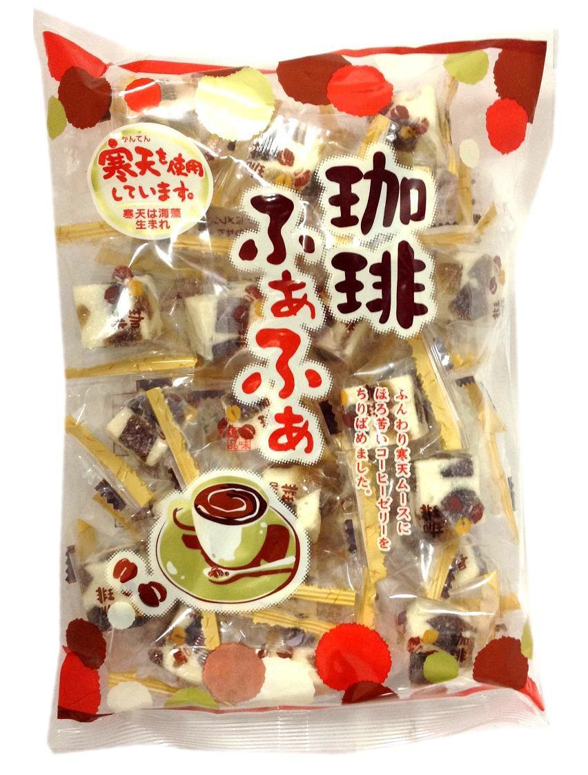 お洒落 寒天を使用しています 津山屋製菓 珈琲ふぁふぁ 激安通販販売 240g×12袋