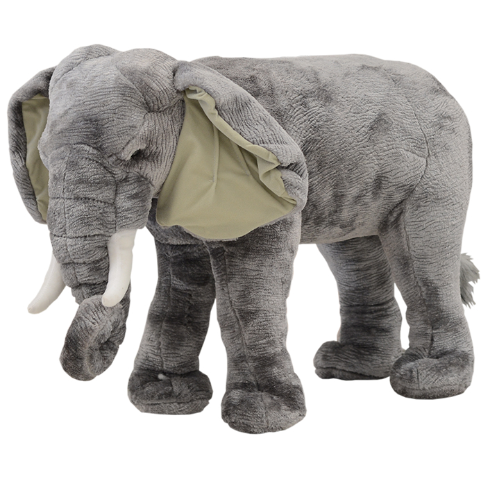 アニマルスツール(ゾウ)大人も座れるぬいぐるみ 北欧テイスト 6614-32【送料無料】ぞう ヌイグルミ 大きな 動物 ジャンボ
