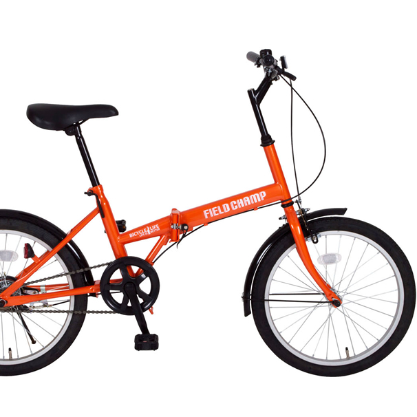 20インチ折畳み自転車 FDB20(オレンジ)MG-FCP20 FIELD CHAMPミムゴ【送料無料】折りたたみ 20型 軽量 コンパクト フィールドチャンプ シングルギア