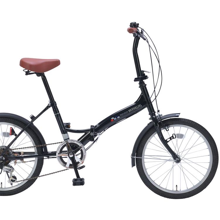20インチ折畳自転車 M-209-BK ブラックパールMyPallas/マイパラス 20・6SP【送料無料】20型 6段変速 折りたたみ