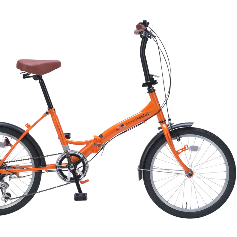 20インチ折畳自転車 M-209-OR オレンジMyPallas/マイパラス 20・6SP【送料無料】20型 6段変速 折りたたみ