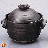 【送料無料】黒丸 ご飯鍋(中蓋付)6合炊器のツボイ土鍋 萬古焼 万古焼 ごはん鍋 炊飯鍋 おいしいご飯が炊けるごはん鍋