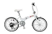 ☆セール☆ゼロワン 20型 折りたたみ自転車 MG-ZRE206-WH 6段ギア付 【送料無料】