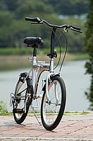 アクティブ91120インチ6段変速 ノーパンクFDB206S折り畳み自転車MG-G206N-SL(シルバー)【送料無料】ミムゴ