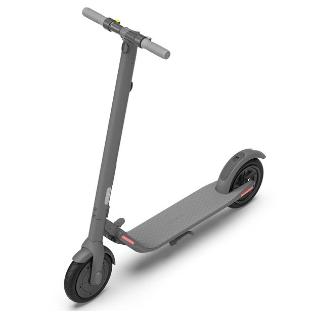 Ninebot KickScooter E22 グレー(ナインボット ミニマル電動キックスクーター) セグウェイ 電動式 キック ボード 50984オオトモ プレゼント iF Product Design Award 軽量 頑丈 アルミ合金