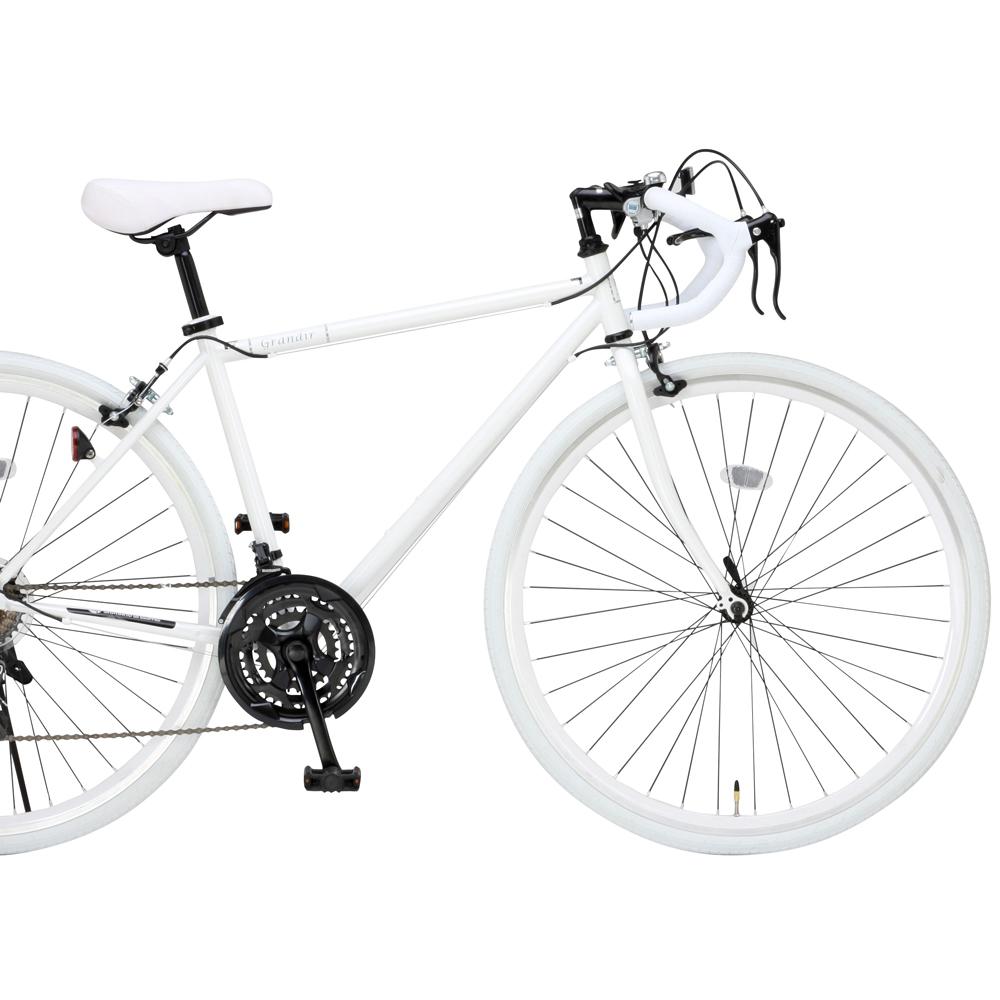 ロードバイク700C Grandir Sensitive19251 ホワイトフレームサイズ470mm シマノ製21段変速 オオトモ