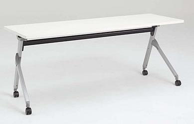フラプター サイドフォールドテーブル 棚板付き・幕板付きタイプ 1200W×600D (mm) 【送料込み】