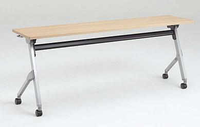 フラプター サイドフォールドテーブル 棚板付き・幕板付きタイプ 1800W×600D (mm) 【送料込み】