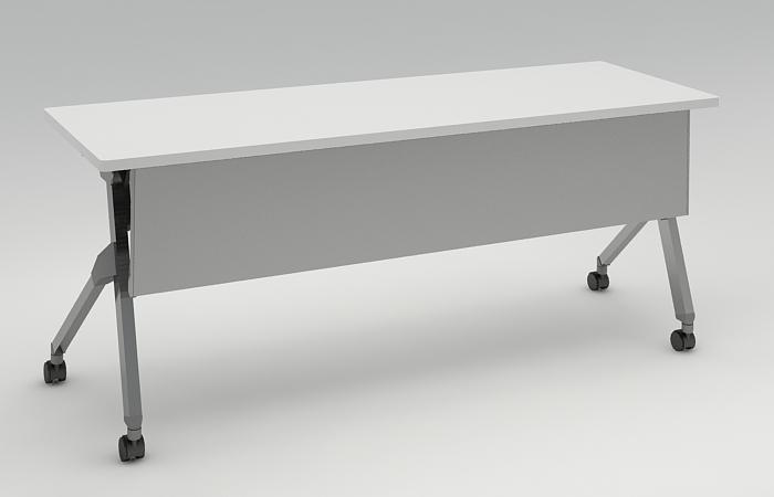 【特集】 オカムラ フラプター サイドフォールド ミーティングテーブル 幕板付き 棚板付き 幅1800×奥行600 81F1CB 【送料無料】 会議テーブル