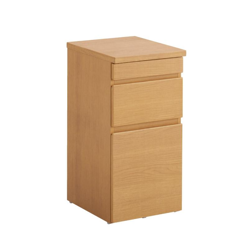 オカムラ lieuble/リュブレ サイドチェスト 天然木 幅35cm 奥行き45cm 高さ72cm 送料込み