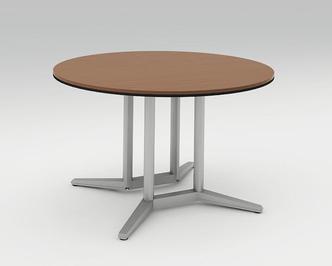 ラティオ2 ミーティングテーブル 円型 マークレス天板 ポリッシュ脚 1200W 配線なし 4L26XF 【送料無料】