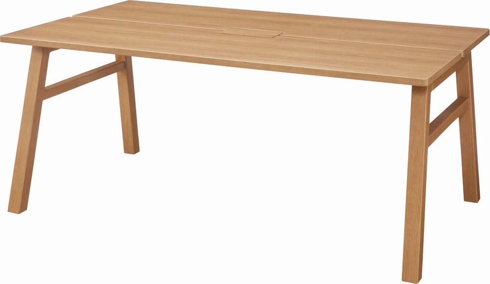 オカムラ 180幅 ダイニングテーブル 天然木 コンセント収納付き 6人サイズ 180×110cm ゆったり シンプル 最大積載質量100kg 送料無料