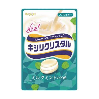 春日井 キシリクシスタル ミルクミントのど飴 71g 72コ入り 2018/09/03発売 (4901326130180c)