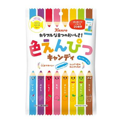 カンロ 色えんぴつキャンディ 80g(個装紙込み) 48コ入り 2019/03/04発売 (4901351018712c)
