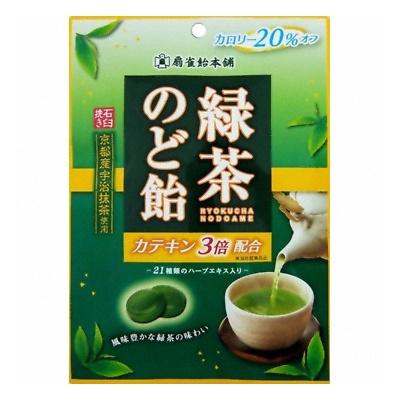 扇雀飴 緑茶のど飴 100g 48コ入り (4901650221523c)