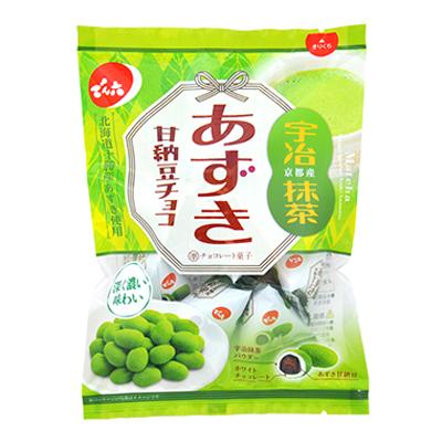 でん六 あずき甘納豆チョコ 抹茶 66g(個装込) 12コ入り (4901930111711)