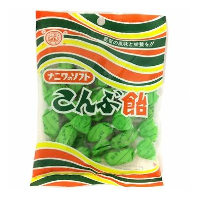 浪速製菓 ソフトこんぶ飴 90g 80コ (4902398121601c)