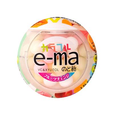 UHA味覚糖 e-maのど飴容器 カラフルフルーツチェンジ 33g 72コ入り 2016/03/28発売 (4514062257334c)