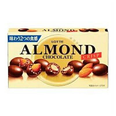 ロッテ アーモンドチョコレート クリスプ 89g 80コ入り 2017/06/06発売 (4903333185146c)