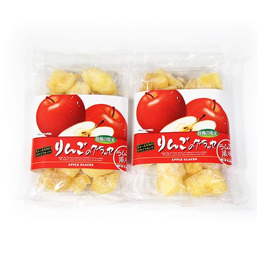 全国送料無料 森田製菓 りんごのグラッセ ラム酒風味 2コ入り 正規激安 メール便 4990855065254x2m 返品送料無料 200g