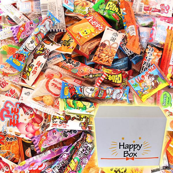 地域限定送料無料 ※北海道 沖縄 離島除く ハッピーボックス 子供も大喜び 31種 おかしのマーチ 駄菓子105コセット 計105コ omtma7141k 70%OFFアウトレット サービス品付き 卸売り