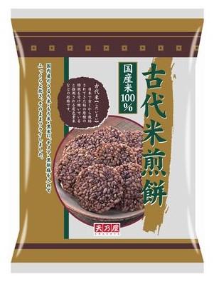 古代米 黒米 キヌア 黒ごまの素材の味を閉じ込めました 高い素材 12枚×12袋入 古代米煎餅 ケース販売 低廉 天乃屋