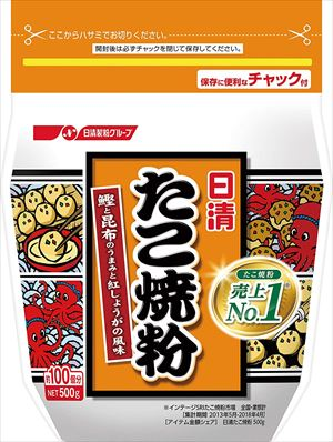 送料無料 北海道 沖縄 安心の実績 高価 買取 強化中 離島は1250円頂戴します 500g×6袋 日清 たこ焼粉 業界No.1