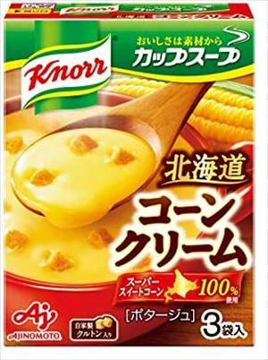 1送料無料 北海道 沖縄 離島は1250円頂戴します 送料無料 ブランド買うならブランドオフ 味の素 ×60箱 クノール コーンクリーム 期間限定特別価格 カップスープ 17.6g×3袋