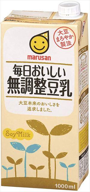 送料無料 正規認証品!新規格 北海道 新商品 沖縄 離島は1250円頂戴します マルサン 毎日おいしい無調整豆乳 CS 1000ml×12本