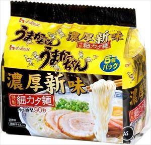 送料無料 北海道 沖縄 贈与 離島は1250円頂戴します うまかっちゃん濃厚新味 特製細カタ 5食パック×6個 豊富な品