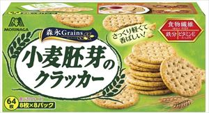 送料無料 北海道 安売り 沖縄 離島は1250円頂戴します 買物 小麦胚芽のクラッカー 森永製菓 64枚×4箱