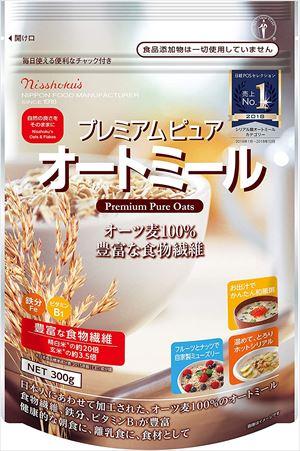 送料無料 北海道、沖縄、離島は1250円頂戴します。 送料無料 日本食品製造 日食 プレミアムピュアオートミール 300g×4個