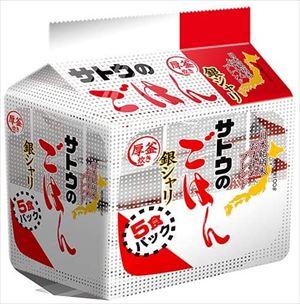送料無料 高品質 北海道 沖縄 離島は1250円頂戴します サトウ食品 銀シャリ 5食パック ×8個 春の新作 サトウのごはん 200g×5食入