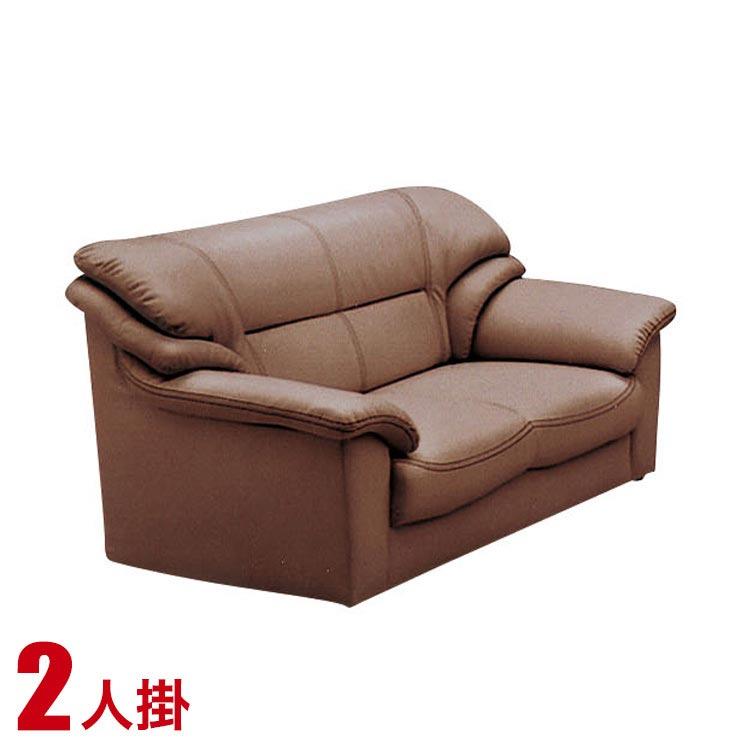 ソファー 2人掛け 合皮 安い ソファ シンプル 高級感のあるおしゃれなソファ ベリーII 2P ブラウン おしゃれ シック 輸入品 送料無料
