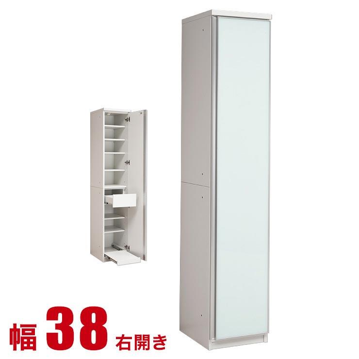 食器棚 収納 完成品 スリム 40 ダイニングボード すっきり片付く大容量 キッチン収納 リヨン 幅38 右開き キッチンキャビネット 日本製 完成品 日本製 送料無料
