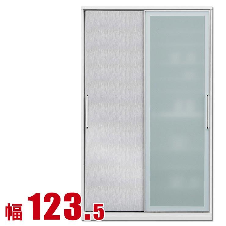 食器棚 収納 引き戸 スライド 完成品 124 ダイニングボード シルバー 銀 時代を牽引する最新鋭のシステム キッチン収納 アクシス 幅123.5 完成品 日本製 送料無料
