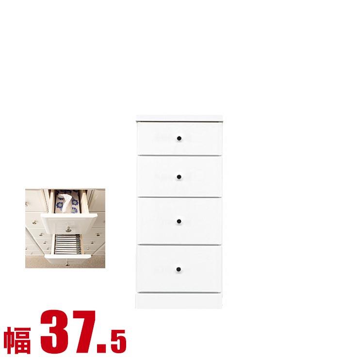 隙間収納 わずかなすき間を有効活用 すきま収納 ソフィア 幅37.5 奥行40 高さ84.5 ホワイト リビング収納 キッチン収納 完成品 日本製 送料無料