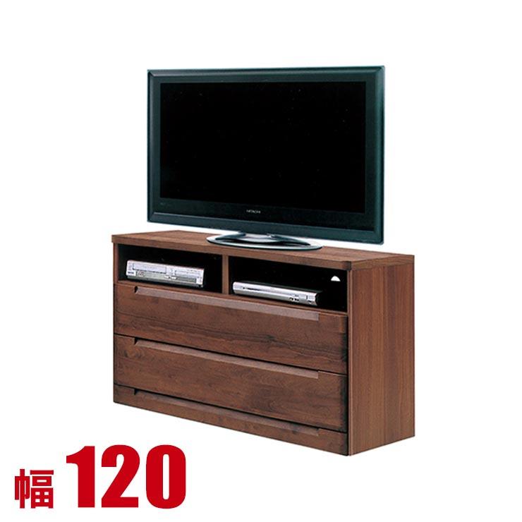 【送料無料/設置無料】 日本製 幅120cm テレビ台 ブーケ ダークブラウン テレビ台 ハイタイプ 完成品 北欧 幅120 テレビボード テレビラック