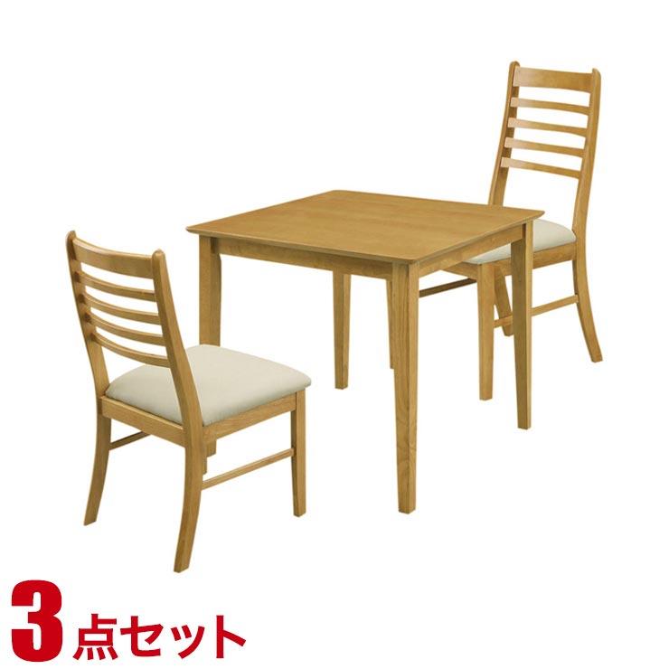 ダイニングテーブルセット 2人掛け シンプル リーズナブル ダイニング 3点セット ジャスト ライトブラウン 幅70cmテーブル チェア2脚 完成品 輸入品 送料無料