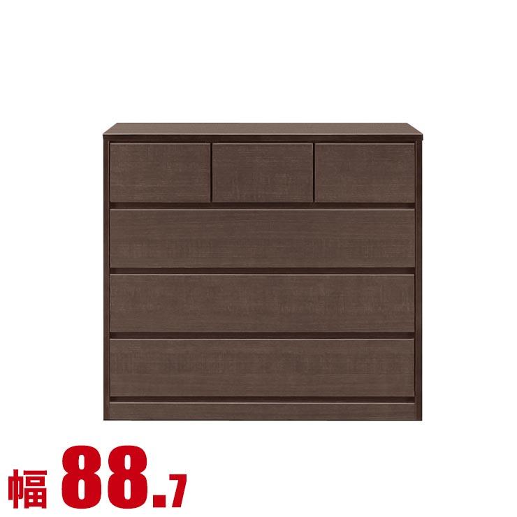 タンス チェスト 木製 完成品 収納 モダン 置く場所を選ばないモダンなチェスト シンプル 幅90 4段 ブラウン 箪笥 完成品 日本製 送料無料