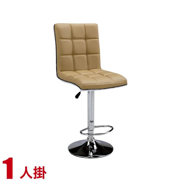 椅子 チェア バーチェア カウンターチェア ハイチェア おしゃれ モダン シンプル バルド 幅41cm ライトブラウン 背もたれ レザー 輸入品 完成品 輸入品 送料無料