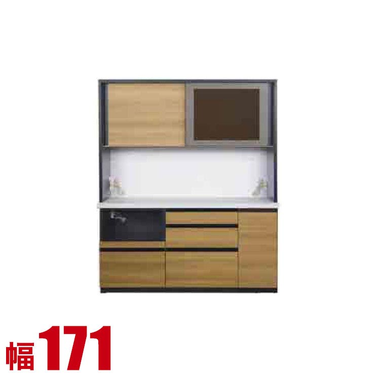 【完成品 日本製 送料無料】 高級 扉とガラスを選べる レンジ台 チューク 幅171 奥行50 高さ203.9 ブラック ホワイト