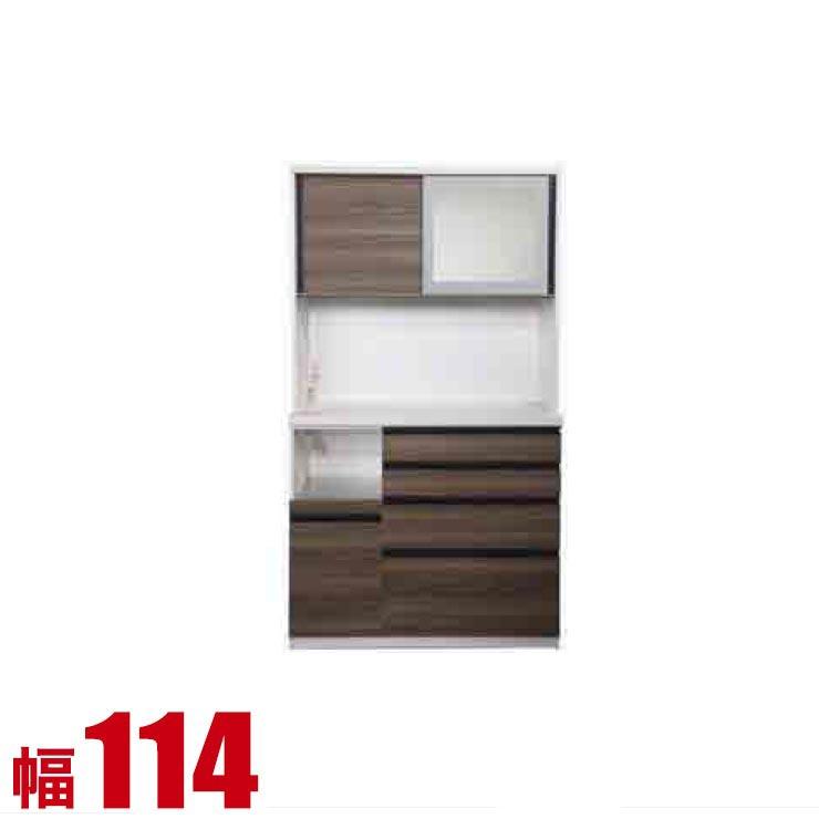 【完成品 日本製 送料無料】 高級 扉とガラスを選べる レンジ台 コローレ 幅114 奥行50 高さ206 ホワイト ブラック