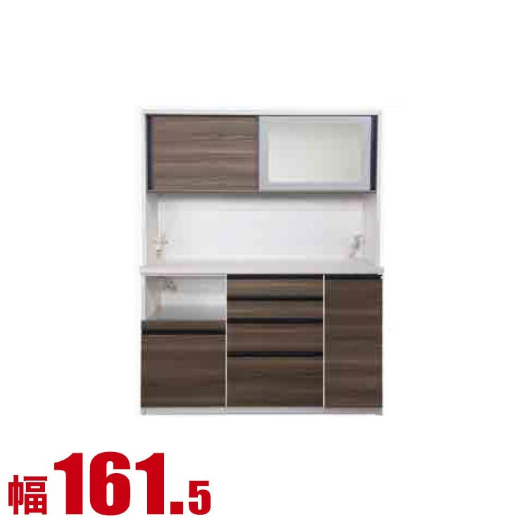 【完成品 日本製 送料無料】 高級 扉とガラスを選べる レンジ台 コローレ 幅161.5 奥行50 高さ206 ホワイト ブラック