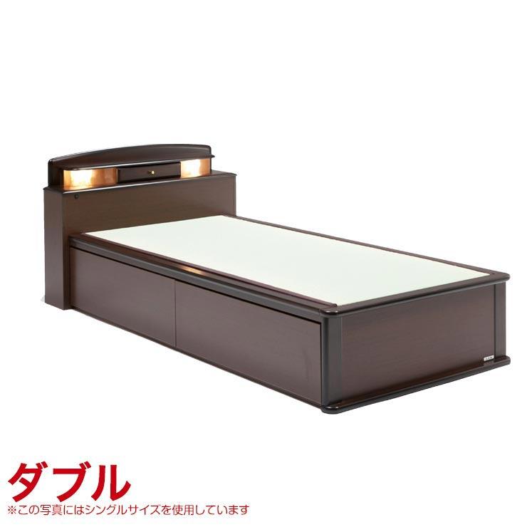 ダブルベッド フレーム 引出し無 宮付き ベッドフレーム 森の恵みと職人の技が作り出した純国産畳ベッド ナンシー ロングタイプ 完成品 日本製 送料無料