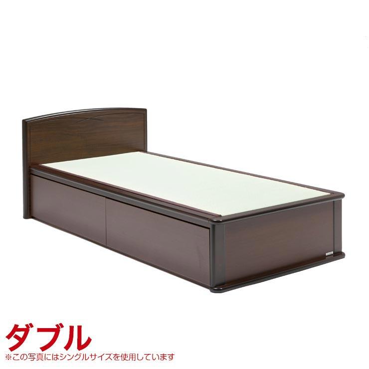 ダブルベッド フレーム 引出し無し 宮無し ベッドフレーム 森の恵みと職人の技が作り出した純国産畳ベッド ナンシー ロングタイプ 完成品 日本製 送料無料