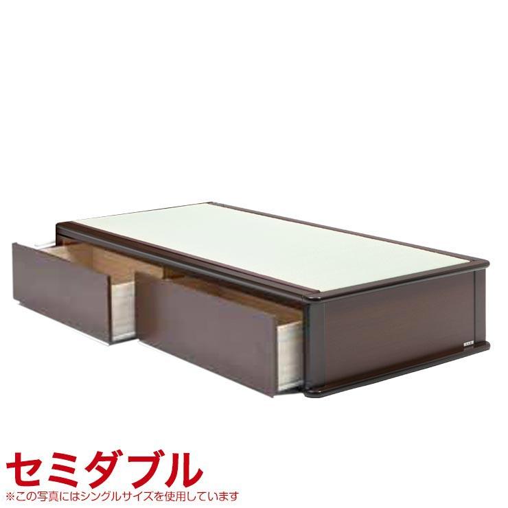 セミダブルベッド フレーム 収納付き ヘッドレスタイプ ベッドフレーム 森の恵みと職人の技が作り出した純国産畳ベッド ナンシー セミダブル 完成品 日本製 送料無料