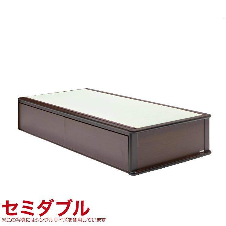 セミダブルベッド フレーム 収納無し ヘッドレスタイプ ベッドフレーム 森の恵みと職人の技が作り出した純国産畳ベッド ナンシー セミダブル 完成品 日本製 送料無料
