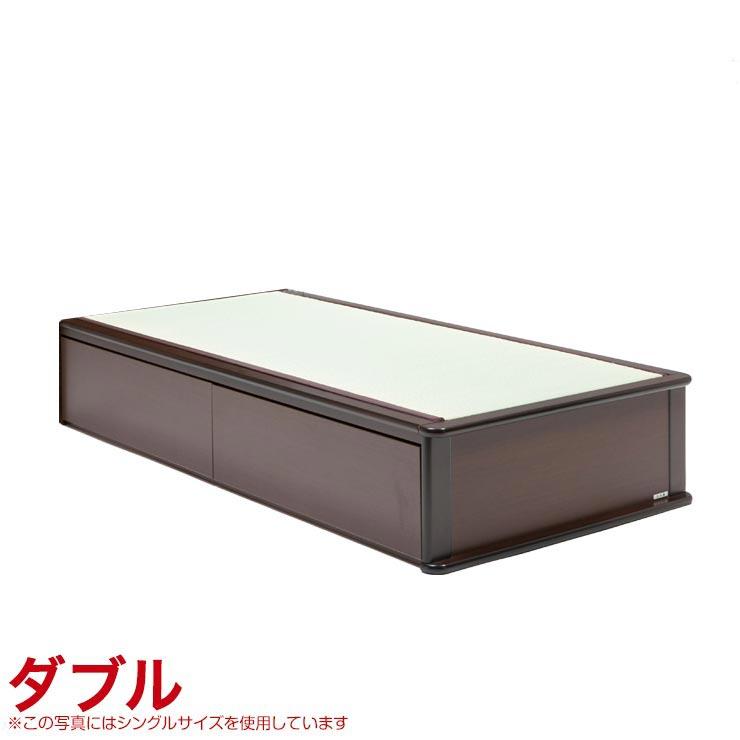 ダブルベッド フレーム 収納無し ヘッドレスタイプ ベッドフレーム 森の恵みと職人の技が作り出した純国産畳ベッド ナンシー ダブル 完成品 日本製 送料無料